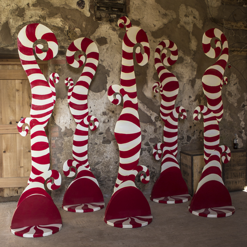 Red and White Candy Swirl Tree