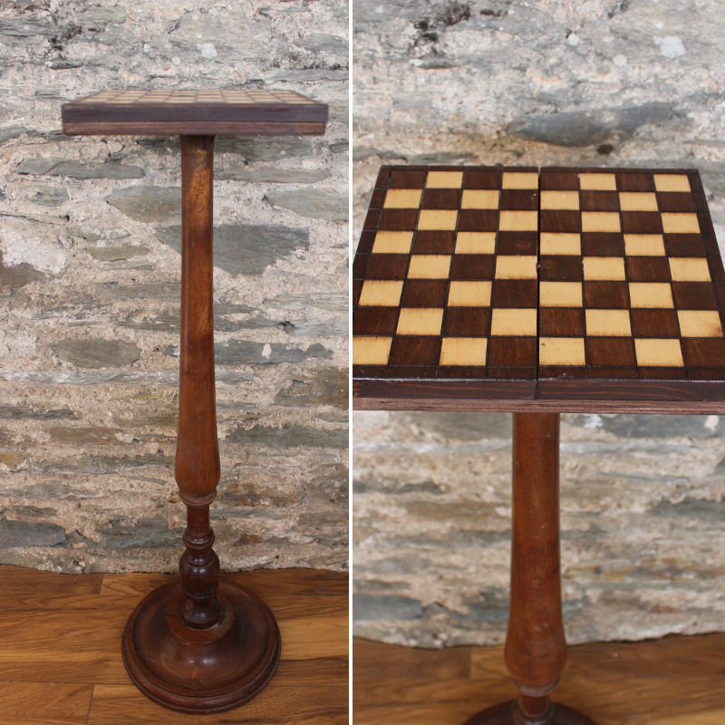 Tall and Small Chess Side Table