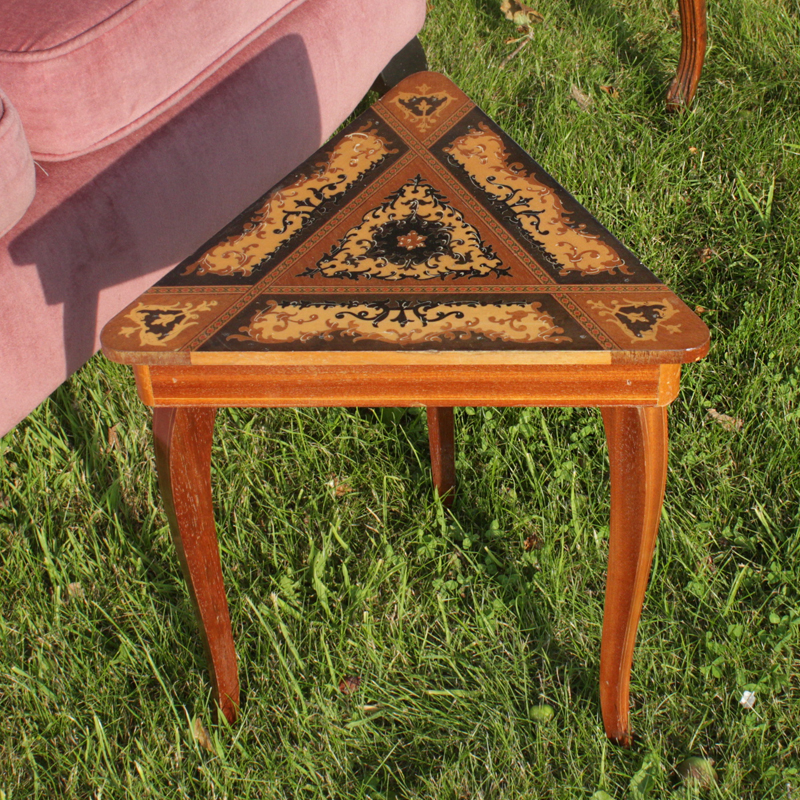 Petite Inlaid Triangle Table