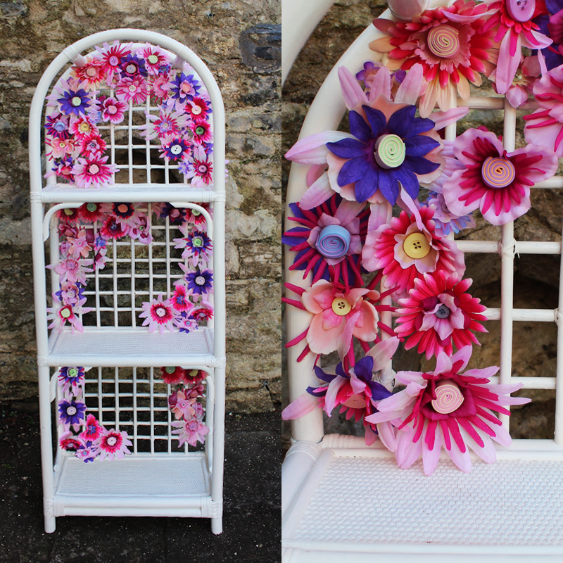 Country Garden Floral Trellis Shelf
