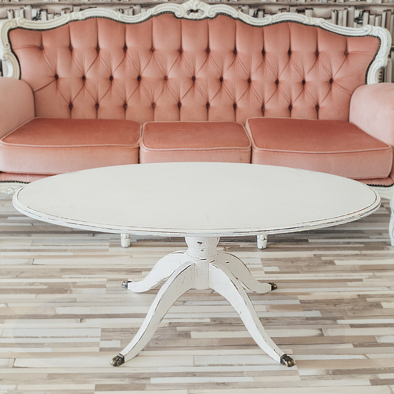 White Oval Coffee Table  1