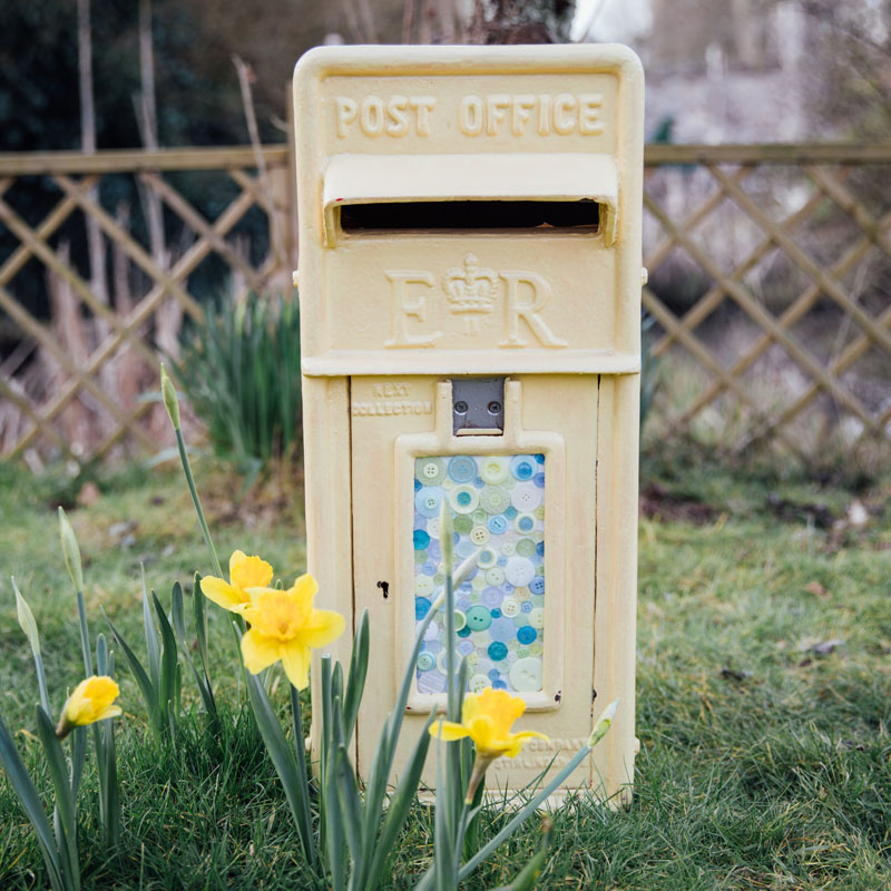 Pale Yellow RM Postbox 2