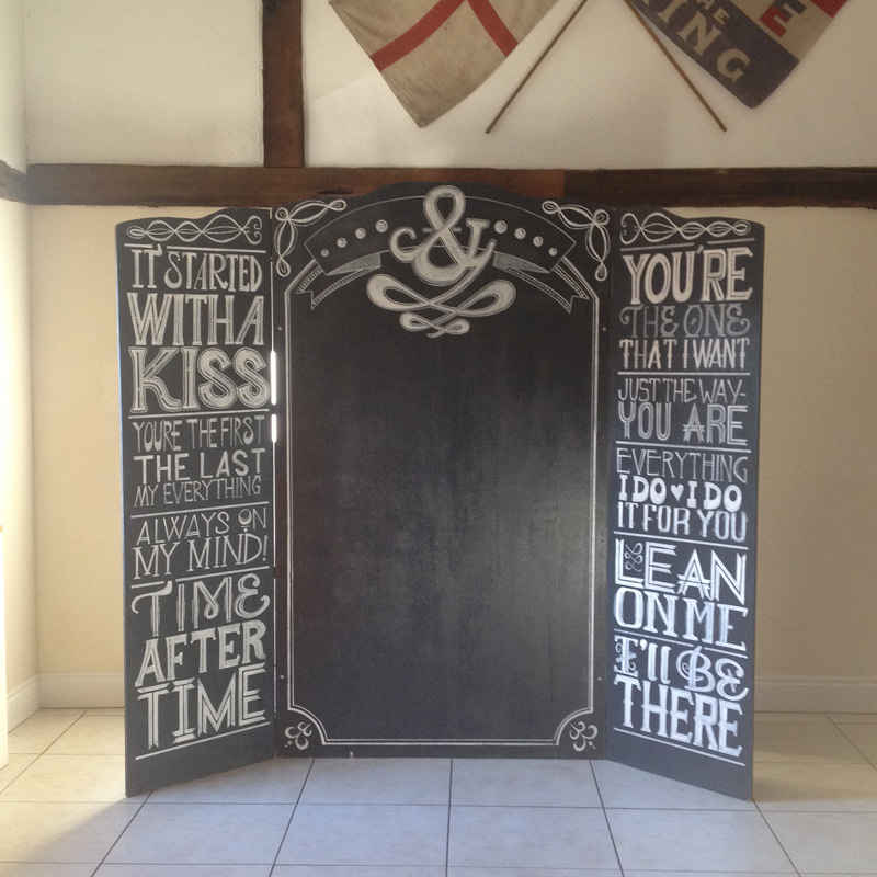 Song Lyric Backdrop