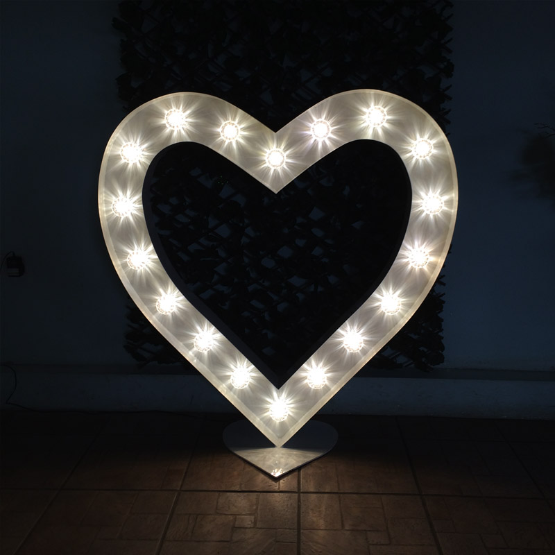 Illuminated White Heart