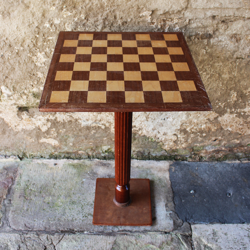 Light Wood Chess Table