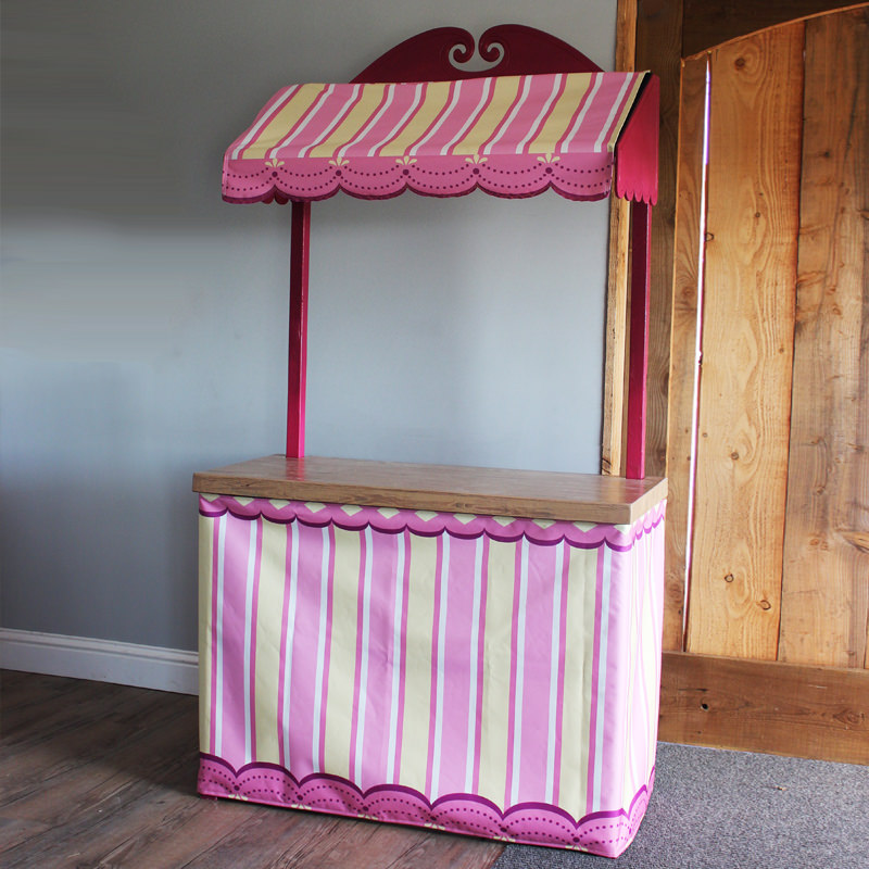 Pink and Yellow Confectionery Stand