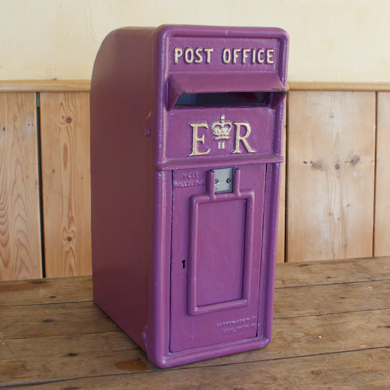 Purple RM Postbox