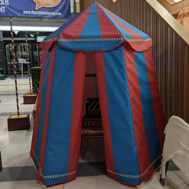 Mini Red and Blue Circus Tent  4