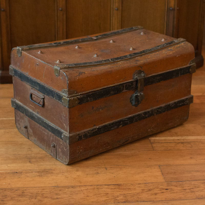 Rustic Tin Trunk