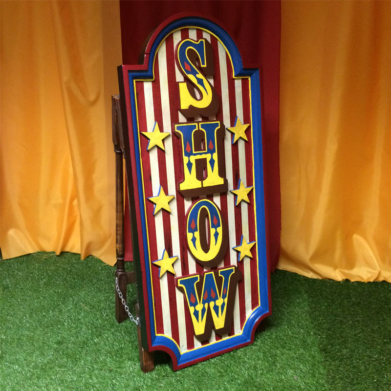 Freestanding Show Sign