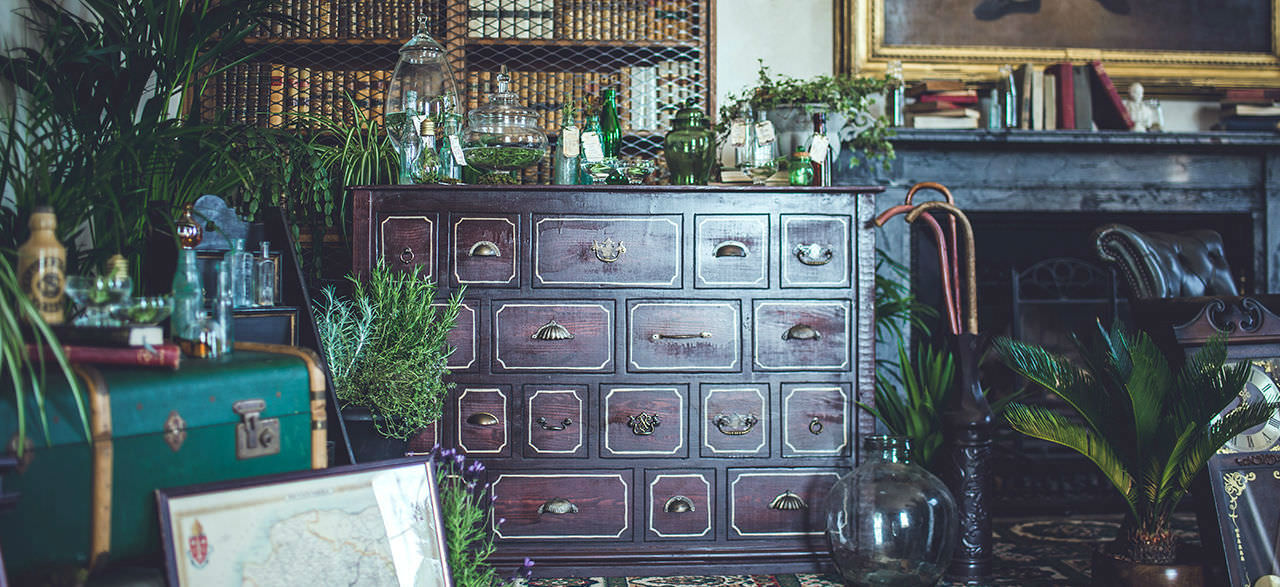 Apothecary Bar and Botanical Victorian Styling