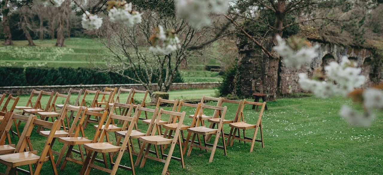Natural Folding Wooden Chairs
