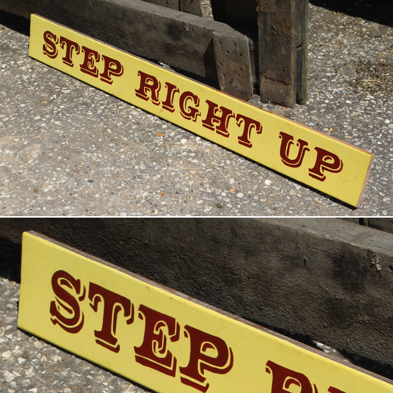 Step Right Up Funfair Sign