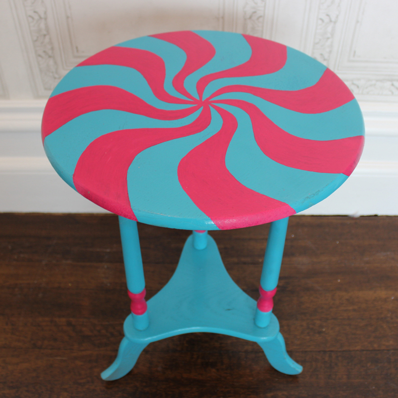 Turquoise Round Sweet Side Table