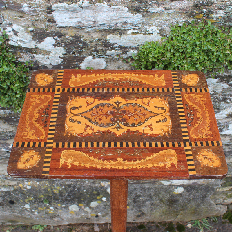 Petite Inlaid Tall Side Table 2