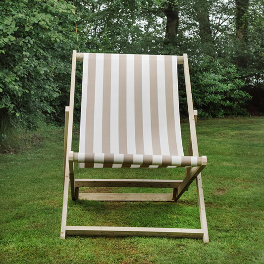 Taupe & White Giant Deckchair 1