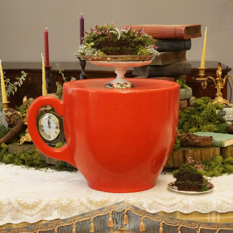 Giant Red Teacup Stand
