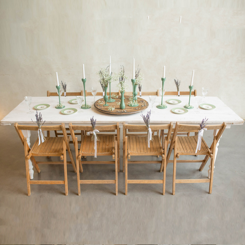 White Farmhouse Table seats 8