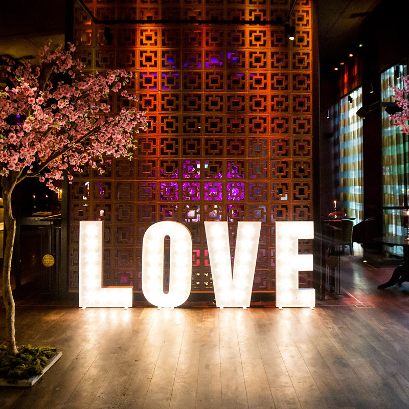 Illuminated White LOVE Letters 3