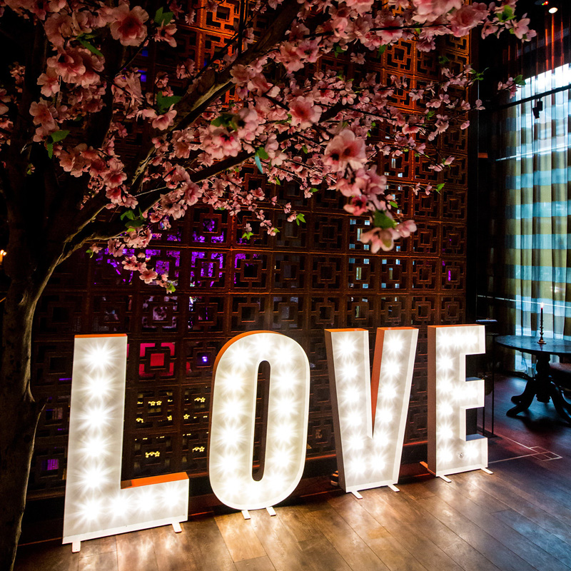 Illuminated White LOVE Letters 1